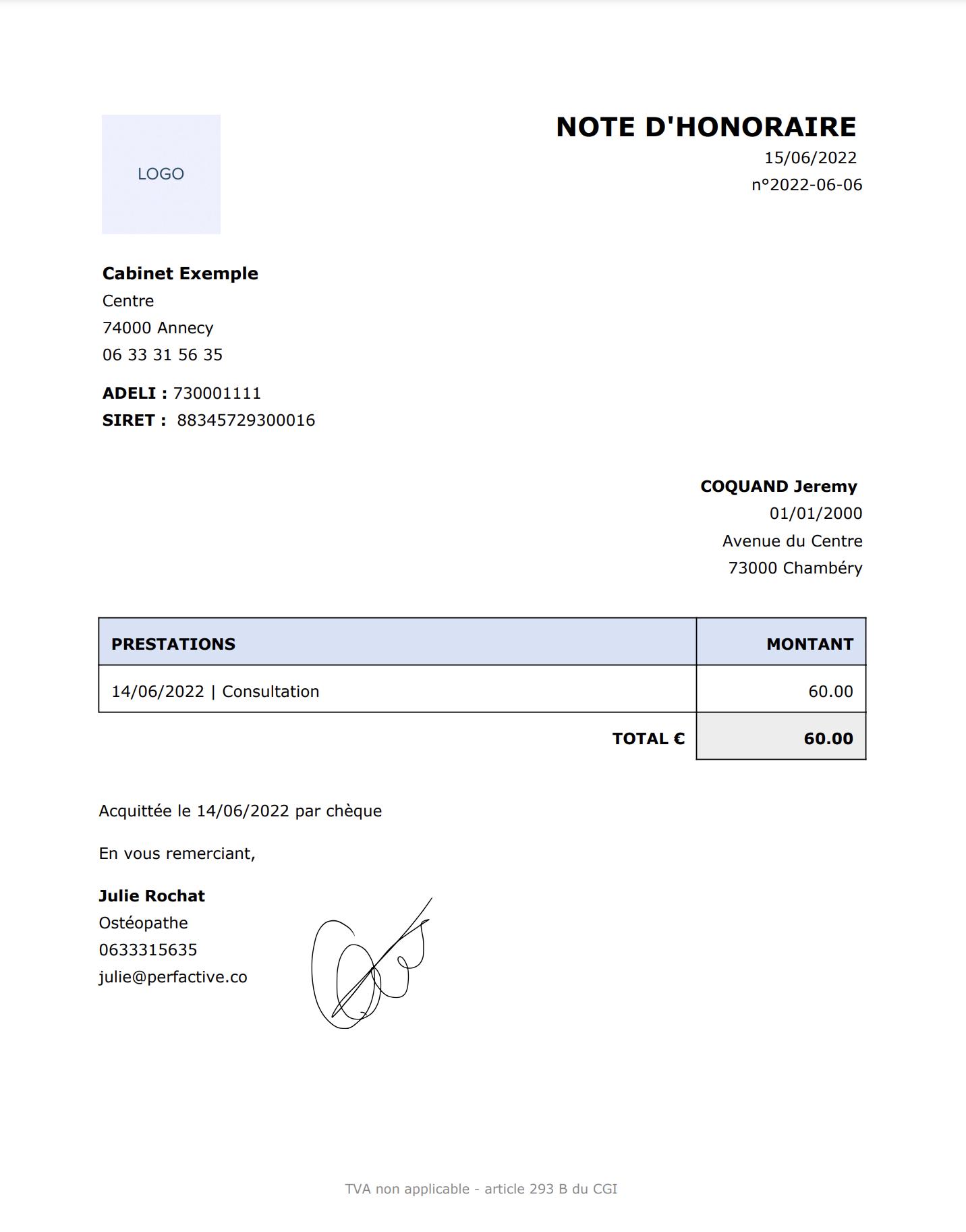 Génération de Document / Lettre | PERFACTIVE